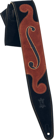 Levy's Leathers MS317STR-BLK The Strad Designer Leather Guitar Strap