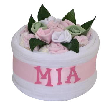 Personalised Nappy Cake (Pink)