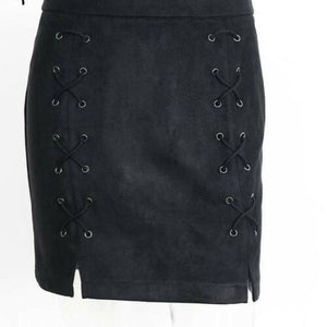 NEW Vintage Veronica Suede Skirt (size 10-12)