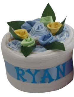 Personalised Nappy Cake (Blue)