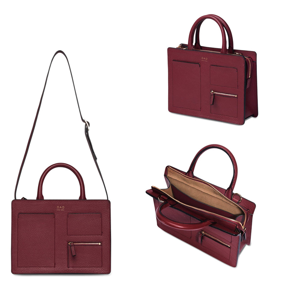 Kit Zip Satchel - Dark Wine - OAD NEW YORK