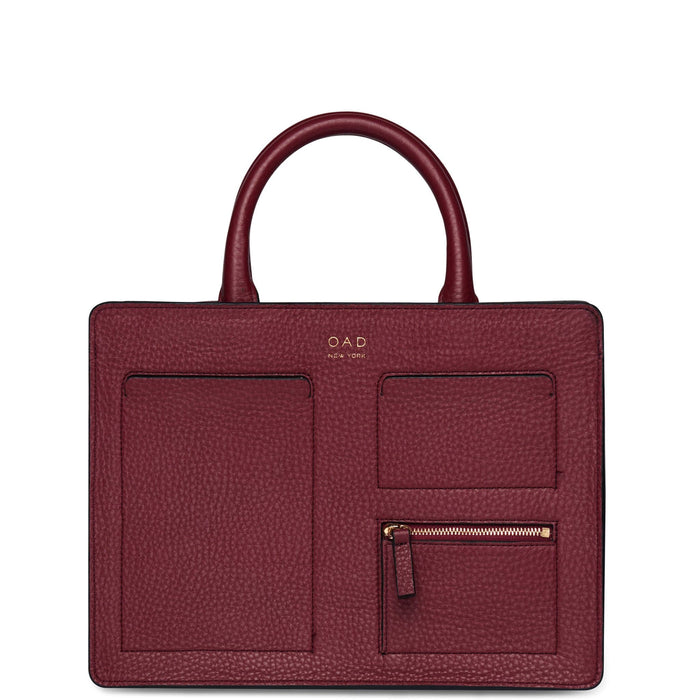 Kit Zip Satchel - Dark Wine - OAD NEW YORK - 1