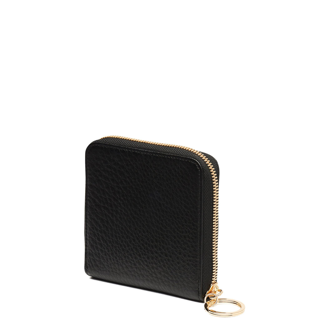 Half Zip Around Wallet - True Black - OAD NEW YORK