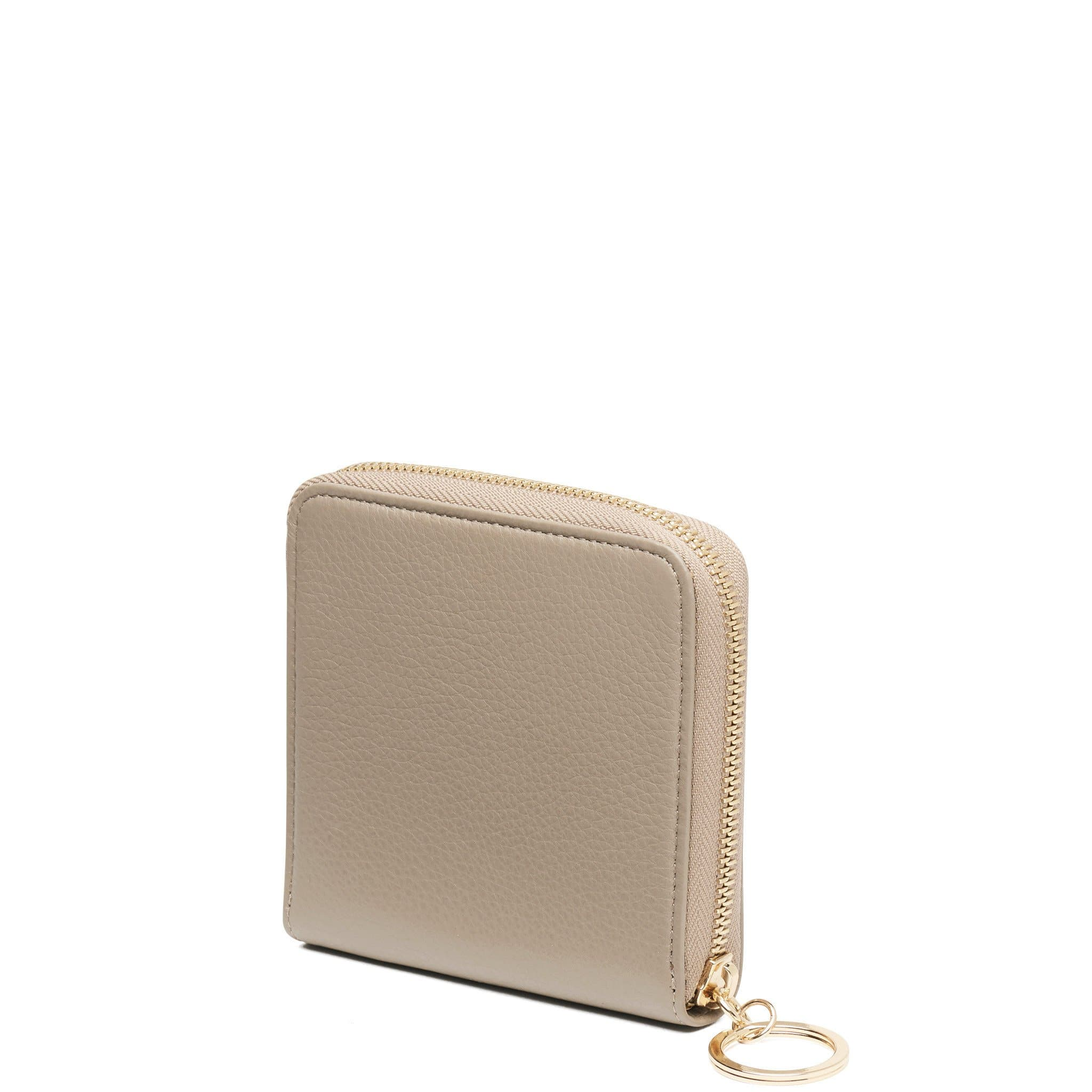 Half Zip Around Wallet - Taupe - OAD NEW YORK - 3