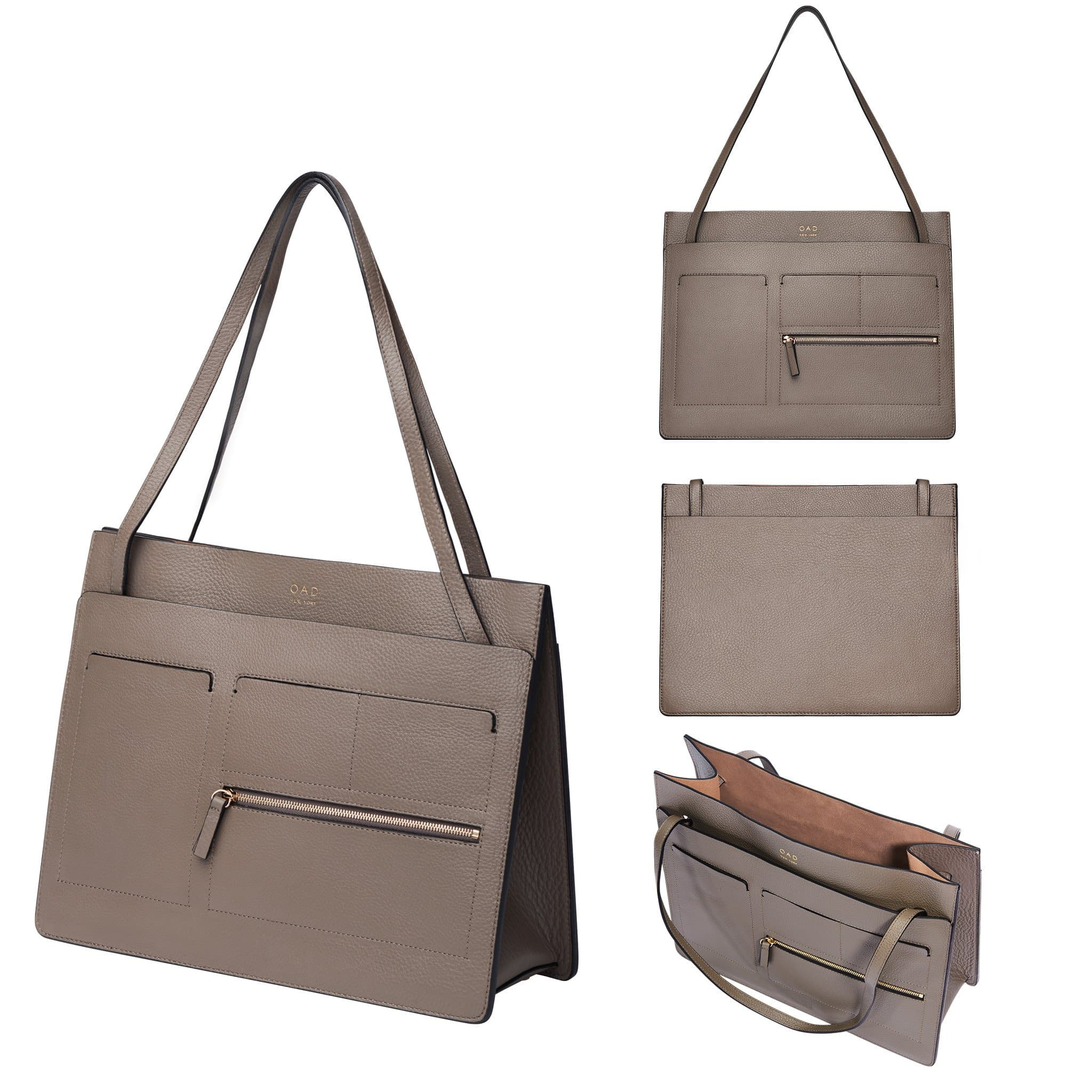 Kit Tote - Pebble Grey - OAD NEW YORK - 2