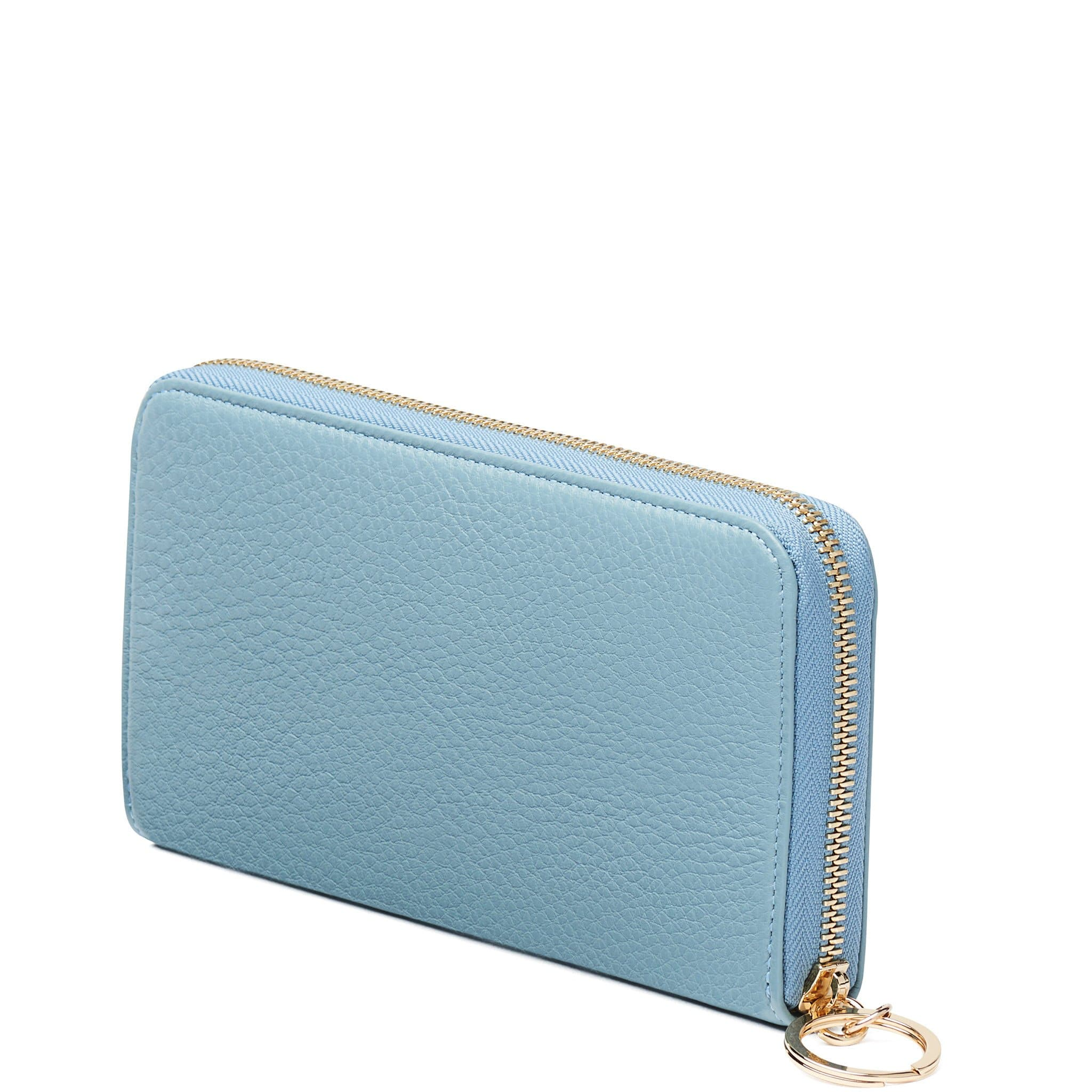 Full Zip Around Wallet - Powder Blue - OAD NEW YORK - 3