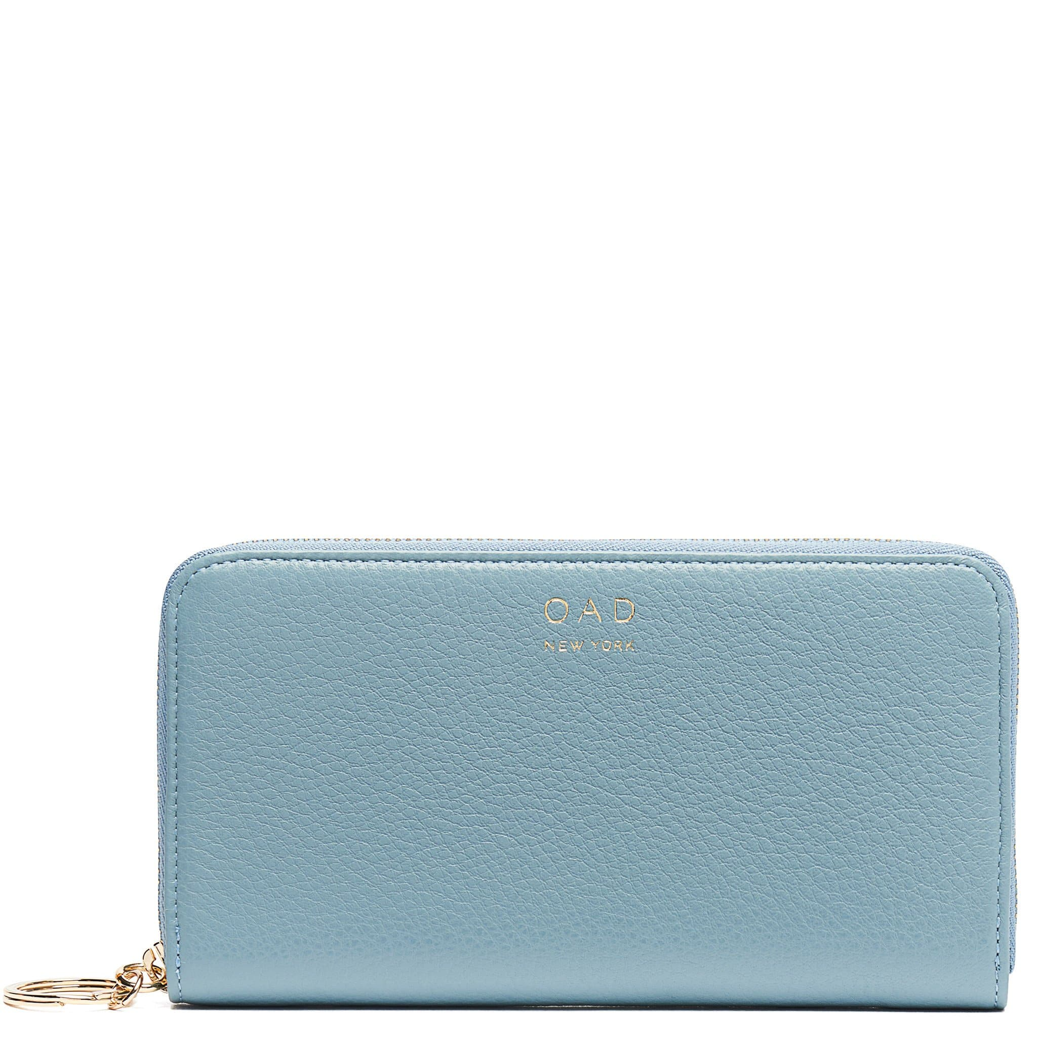 Full Zip Around Wallet - Powder Blue - OAD NEW YORK - 1