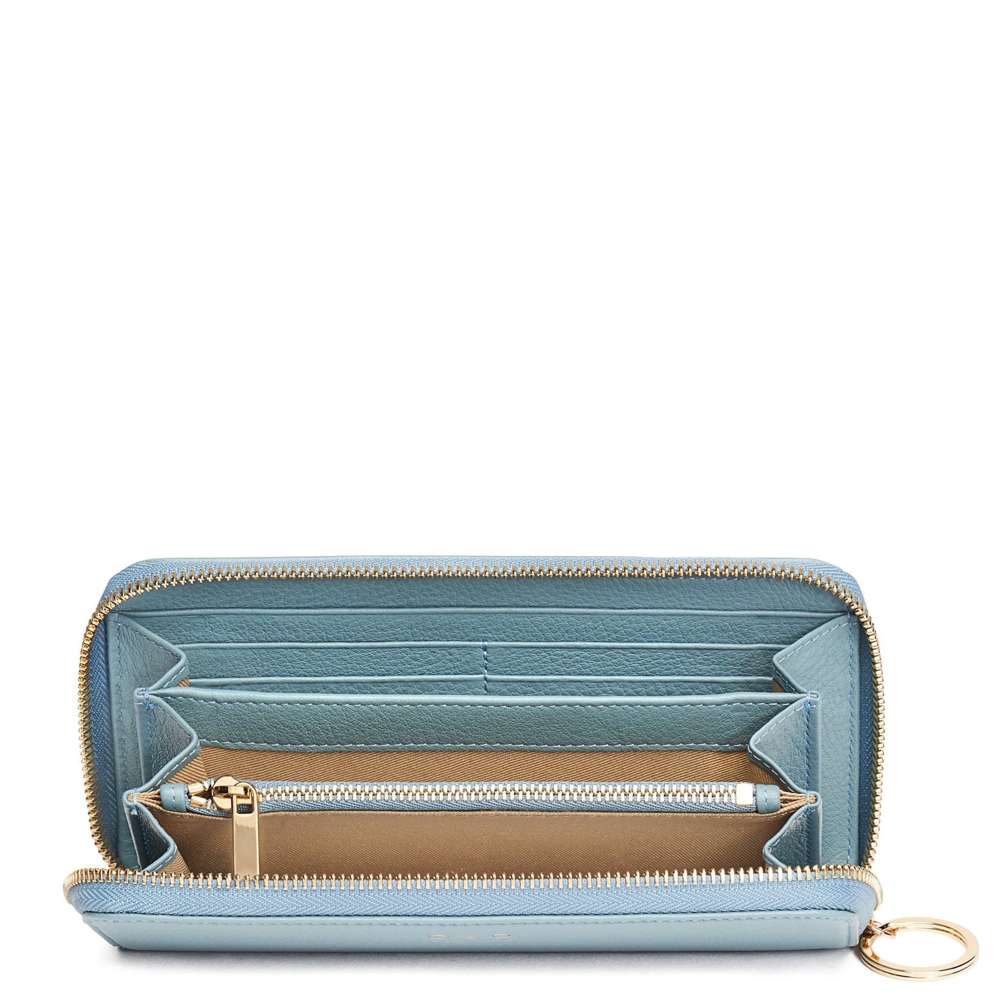 Full Zip Around Wallet - Powder Blue - OAD NEW YORK - 2