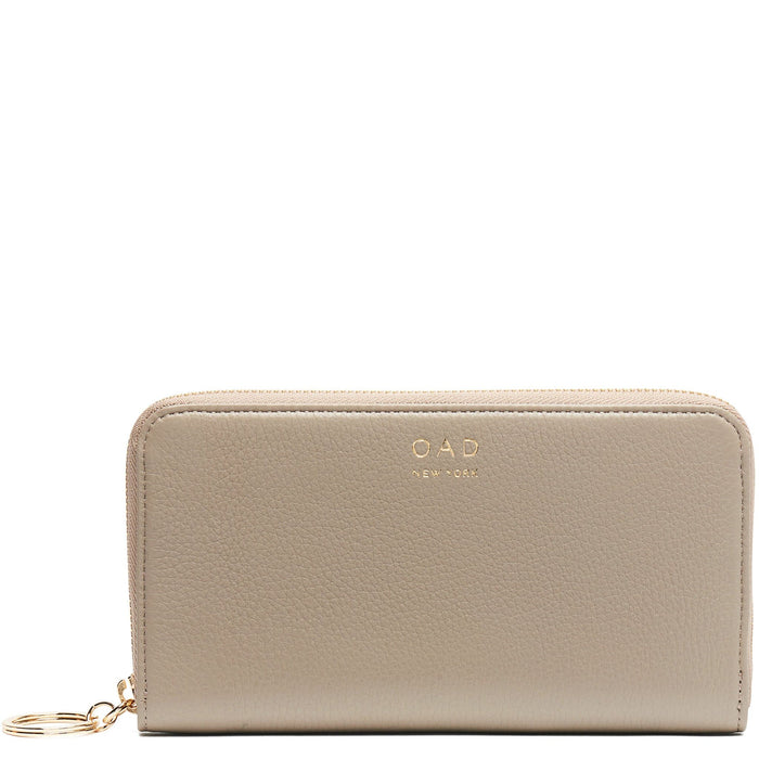 Full Zip Around Wallet - Taupe - OAD NEW YORK - 1