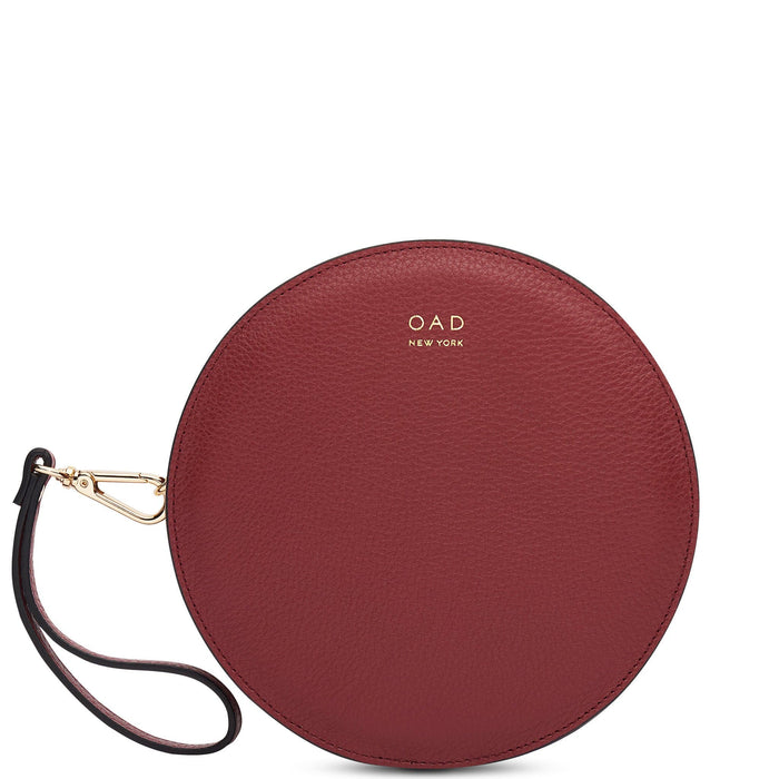 Circle Crossbody Wristlet - Dark Wine - OAD NEW YORK