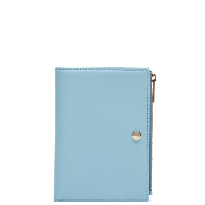 Calf Everywhere Travel Wallet - Baby Blue - OAD NEW YORK