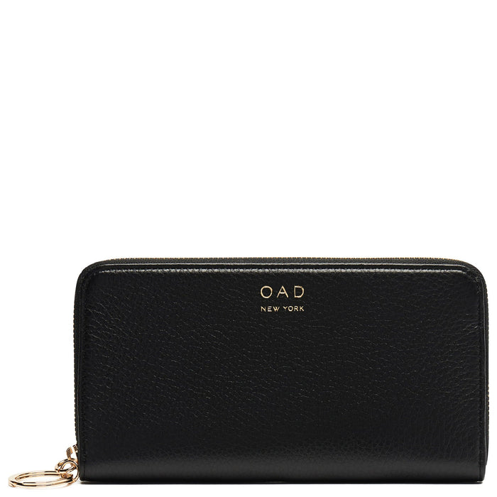 Full Zip Around Wallet - True Black - OAD NEW YORK - 1