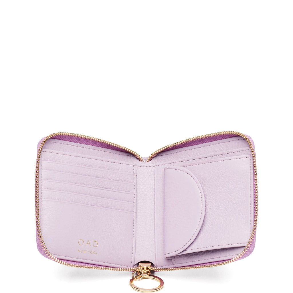 Half Zip Around Wallet - Sweet Lilac - OAD NEW YORK