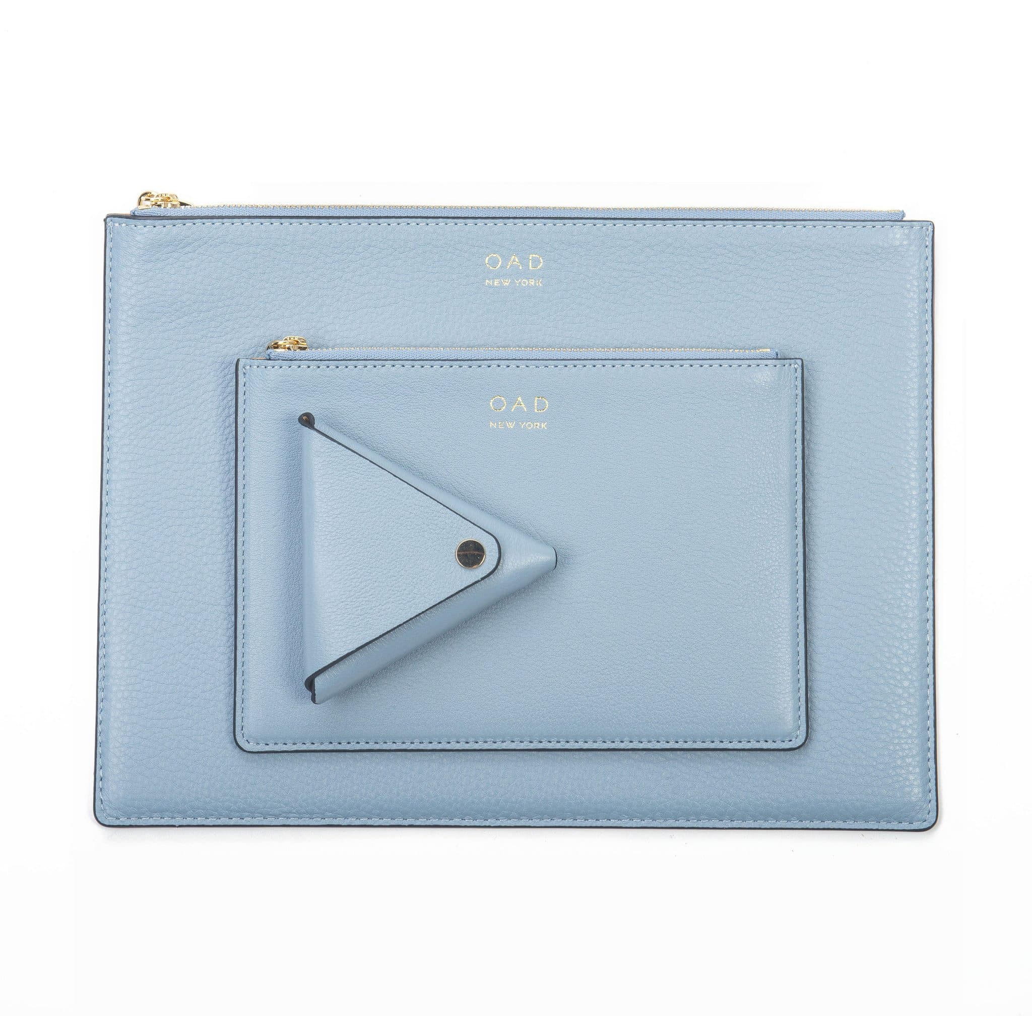 Triangle Key Ring - Powder Blue - OAD NEW YORK - 3