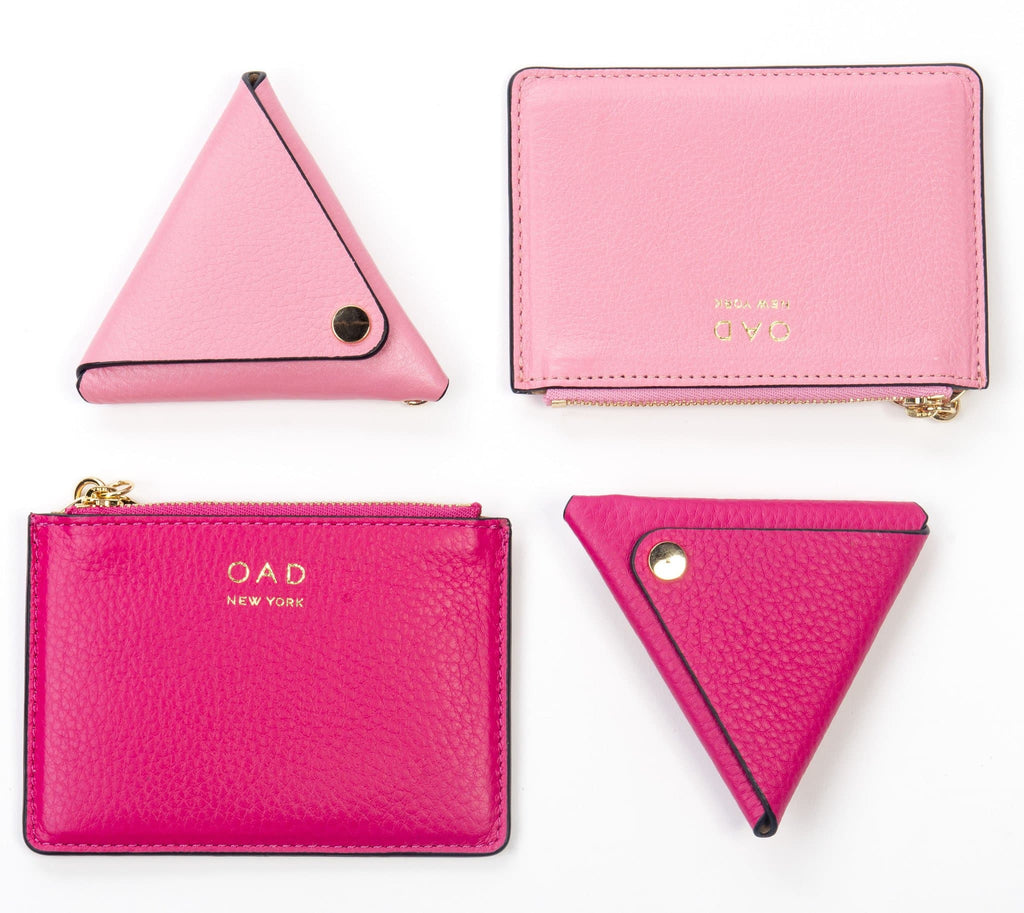 Triangle Key Ring - Candy Pink - OAD NEW YORK - 3
