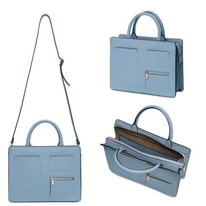 Kit Zip Satchel - Powder Blue - OAD NEW YORK