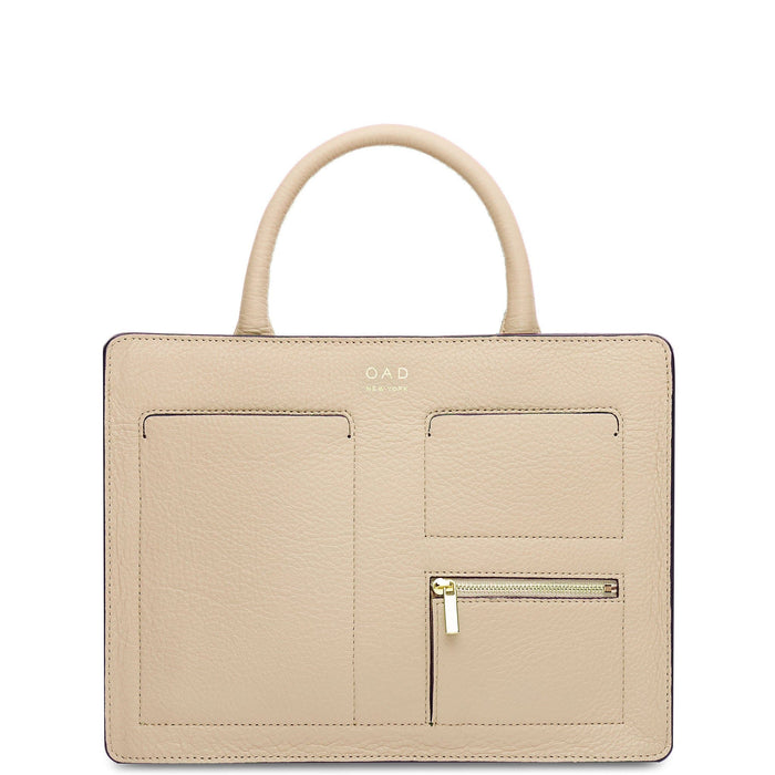 Kit Zip Satchel - Toasted Almond - OAD NEW YORK