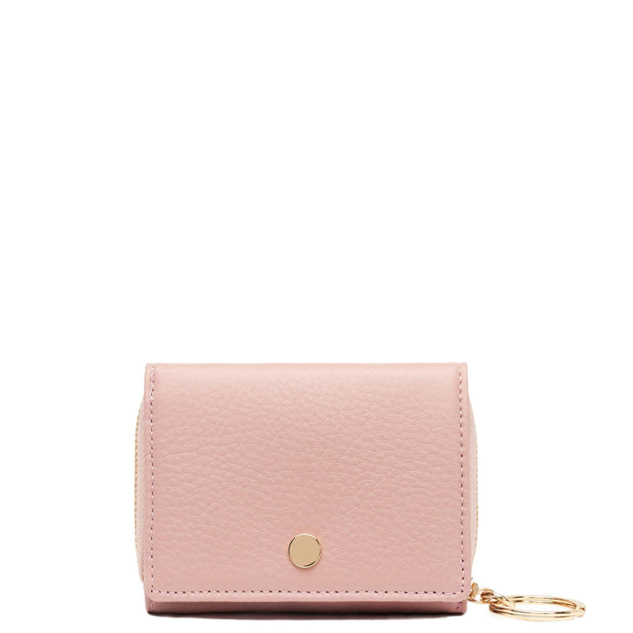 Mini Zip Around Wallet - Rose Pink - OAD NEW YORK - 1