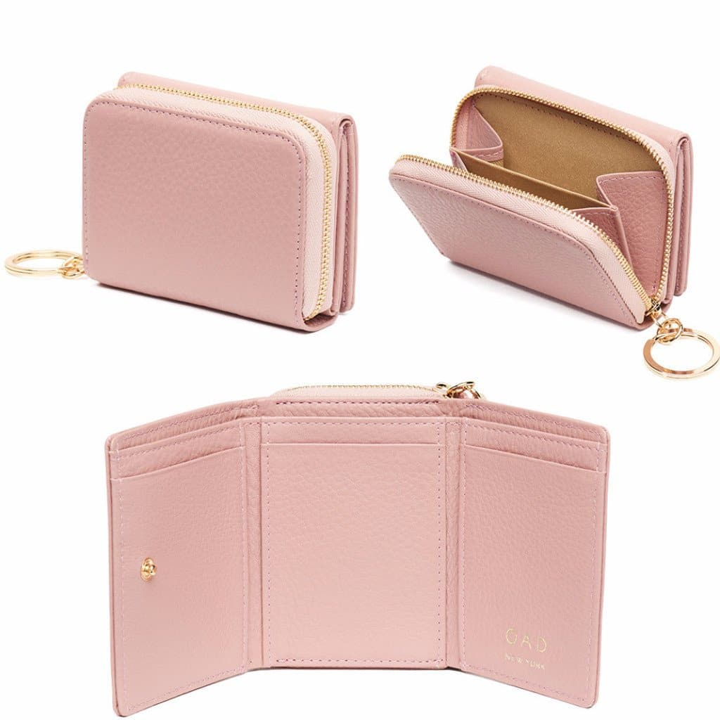 Mini Zip Around Wallet - Rose Pink - OAD NEW YORK - 2