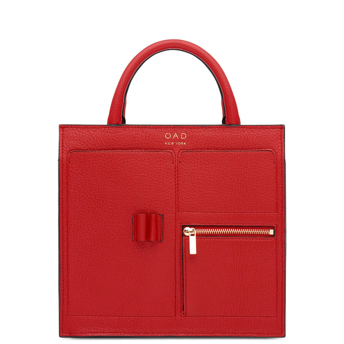 Mini Kit Zip Satchel - Classic Red - OAD NEW YORK