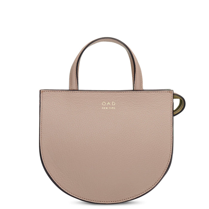 Mini Saddle Courier - Taupe - OAD NEW YORK