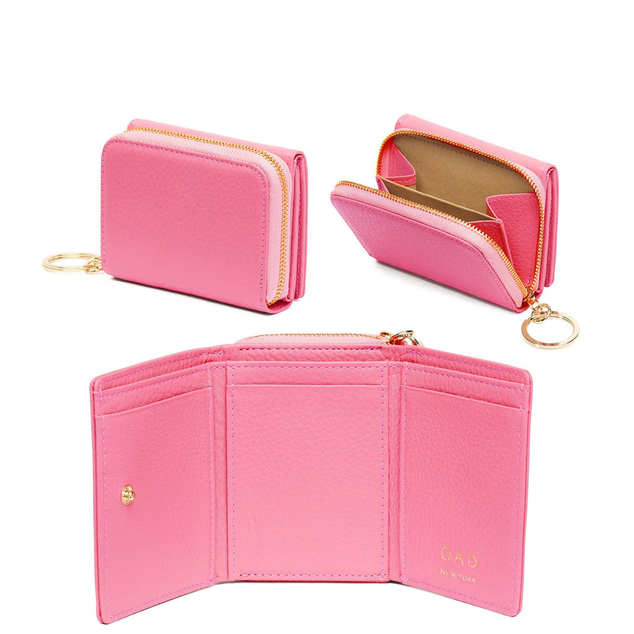 Mini Zip Around Wallet - Candy Pink - OAD NEW YORK