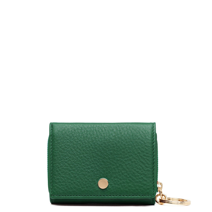 Mini Zip Around Wallet - Deep Green - OAD NEW YORK
