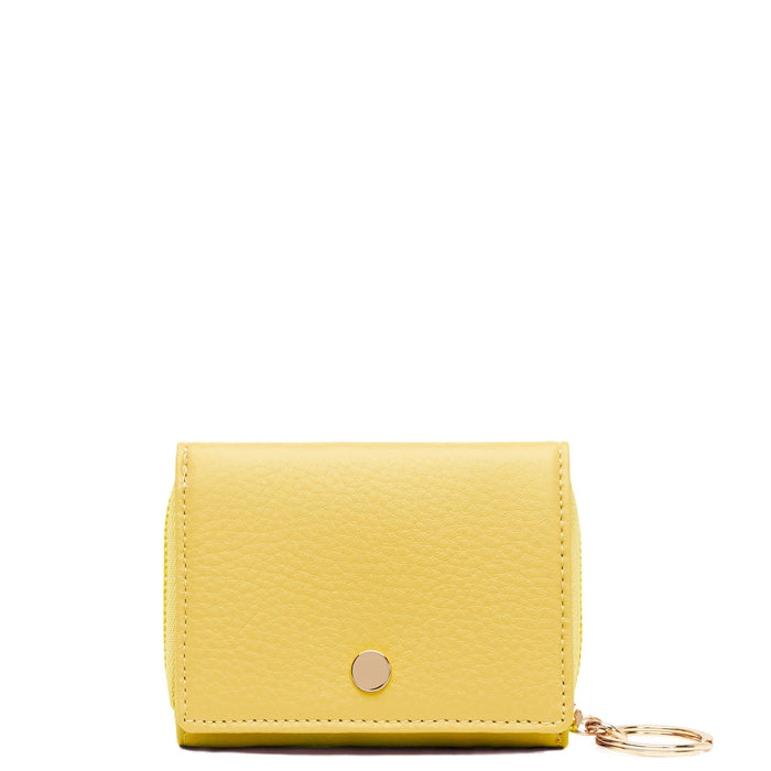 Mini Zip Around Wallet - Lemon Yellow - OAD NEW YORK