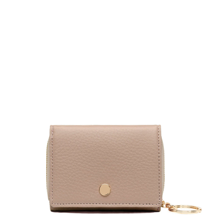 Mini Zip Around Wallet - Taupe - OAD NEW YORK