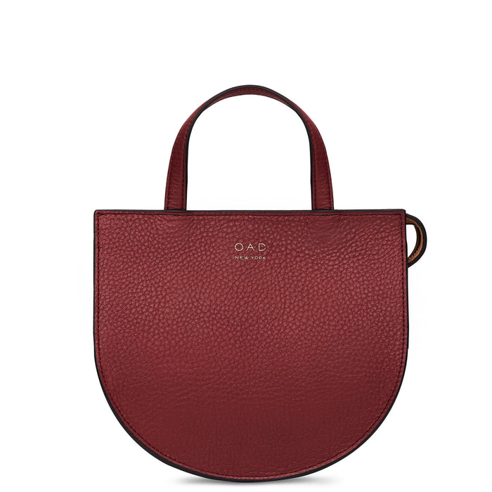 Mini Saddle Courier - Dark Wine - OAD NEW YORK