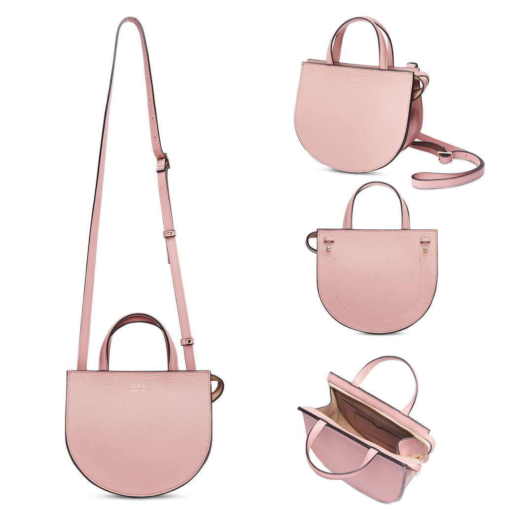 Mini Saddle Courier - Rose Pink - OAD NEW YORK