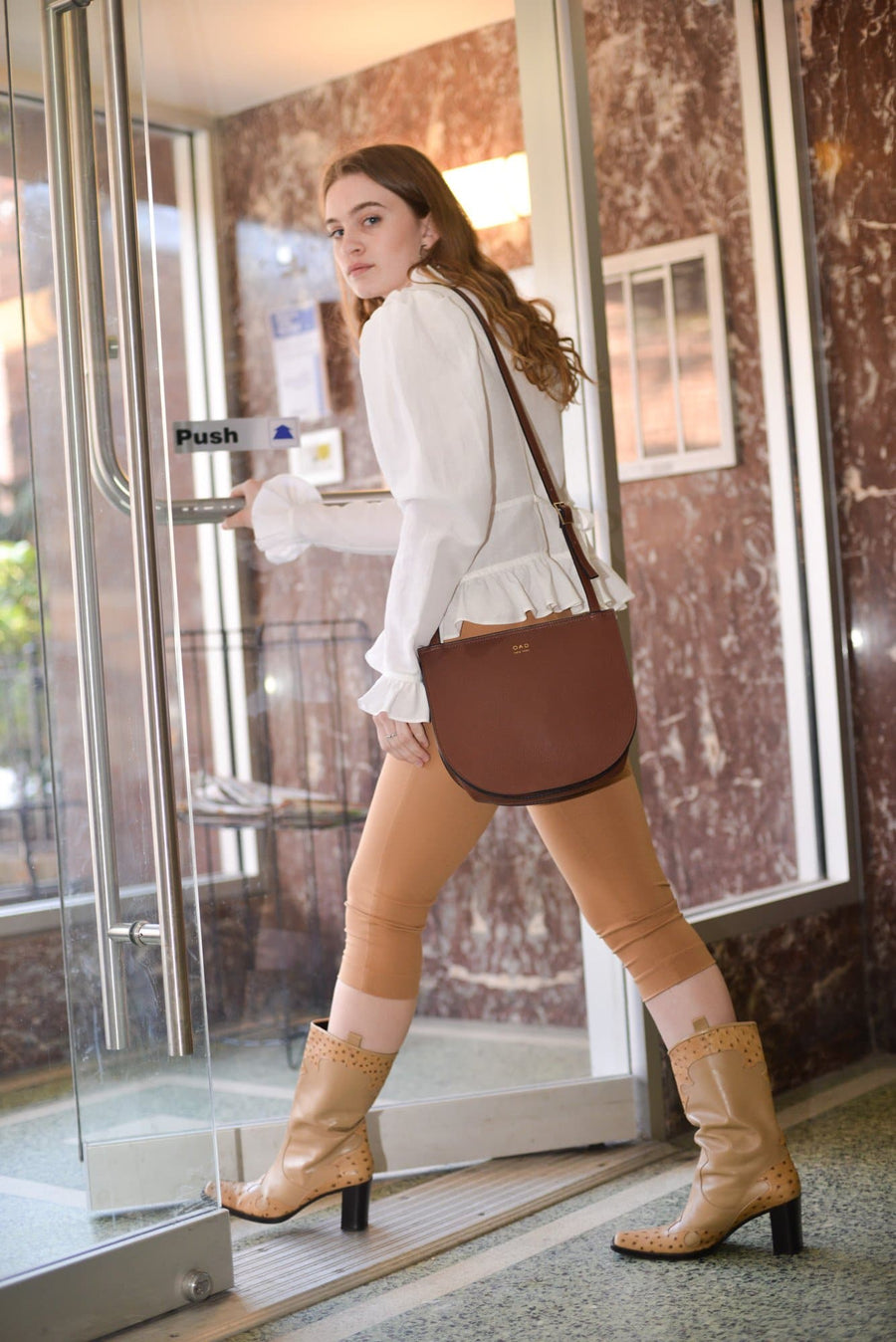 Luna Crossbody - British Tan - OAD NEW YORK