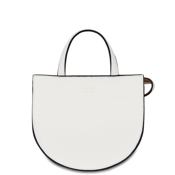Mini Saddle Courier - Bright White - OAD NEW YORK