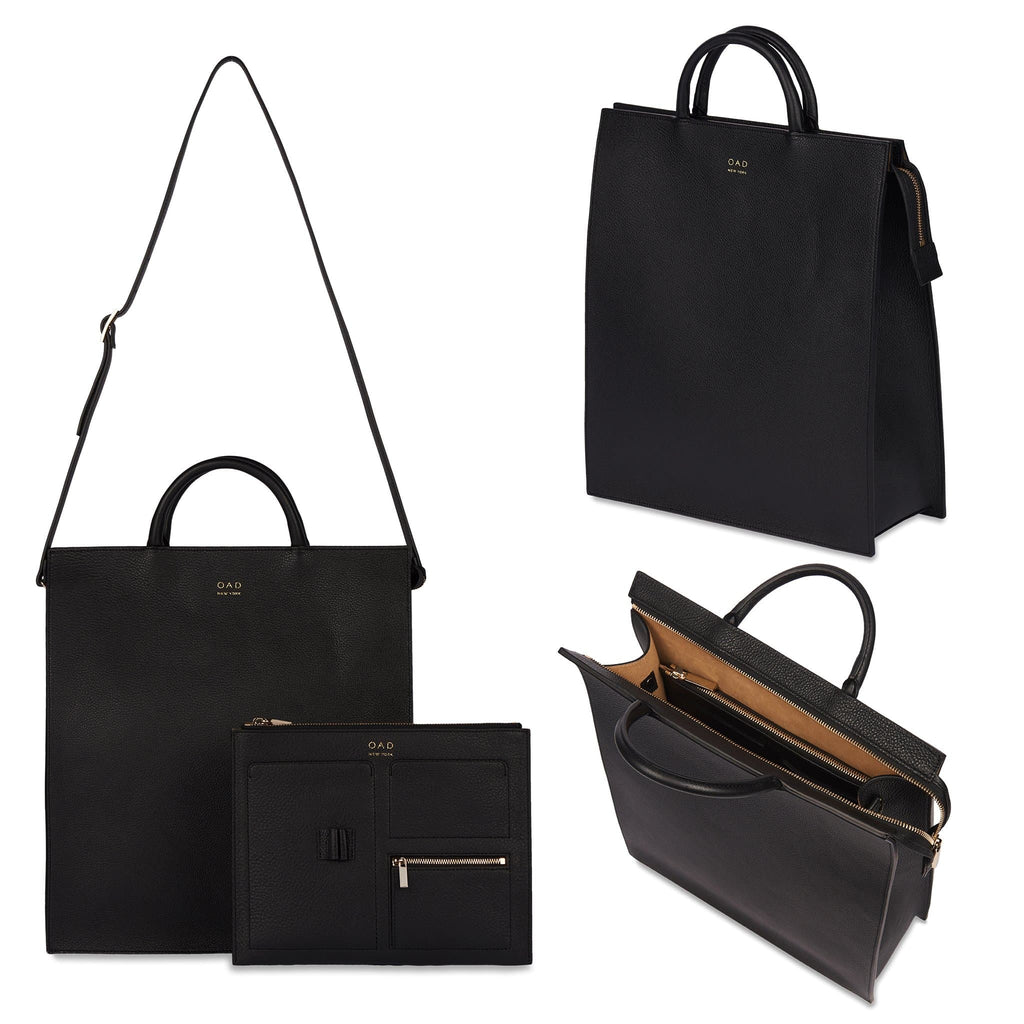 Long Work Tote - True Black - OAD NEW YORK
