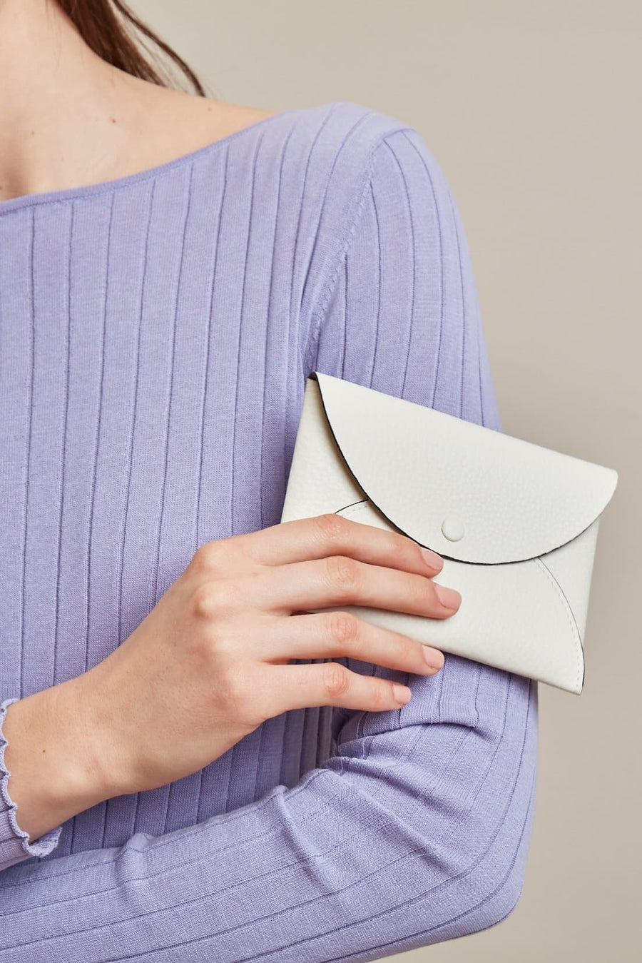 Envelope Wallet Clutch - Creme - OAD NEW YORK