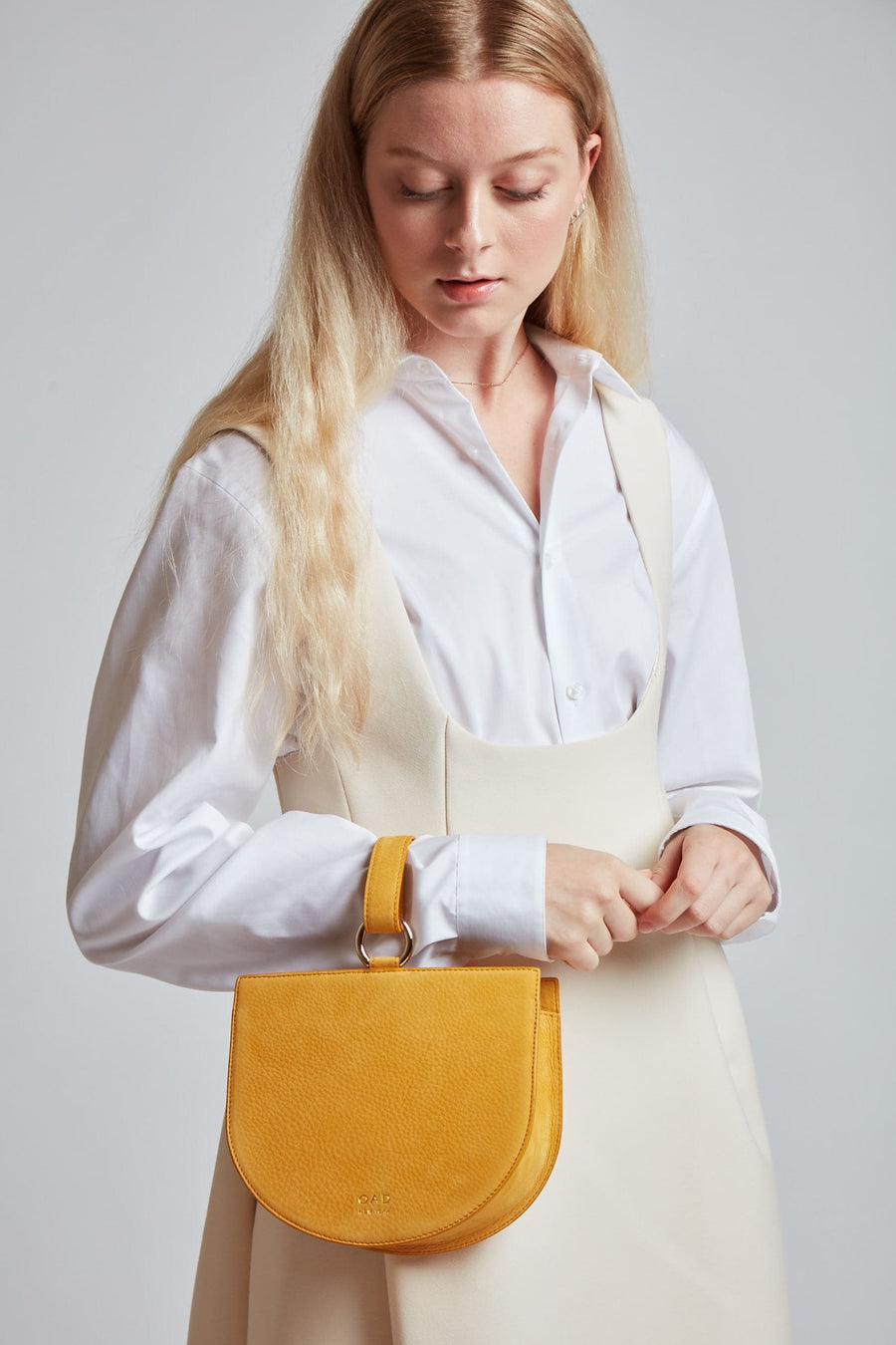 Nubuck Dome Wristlet - Honey