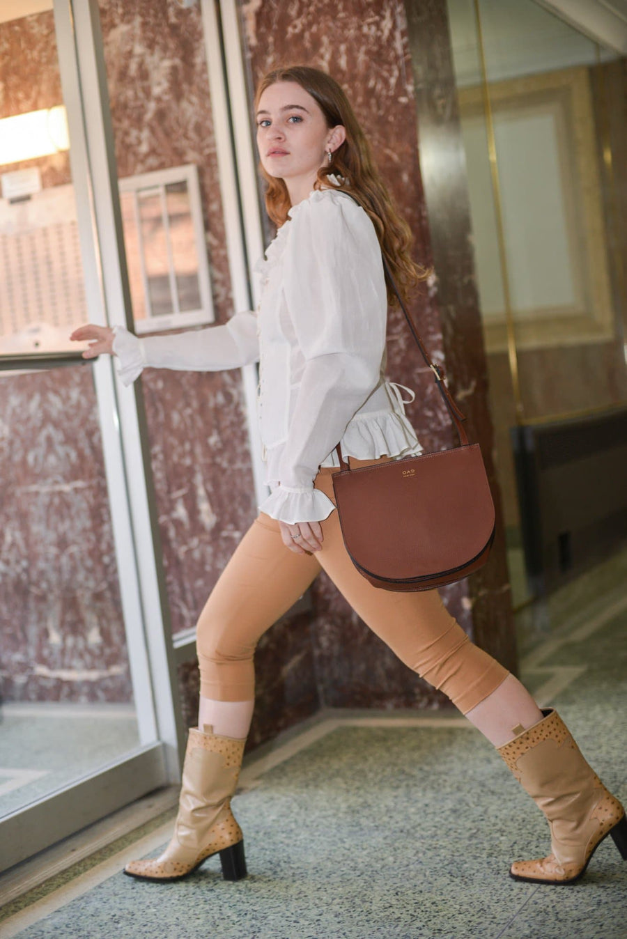 Luna Crossbody - Bordeaux - OAD NEW YORK