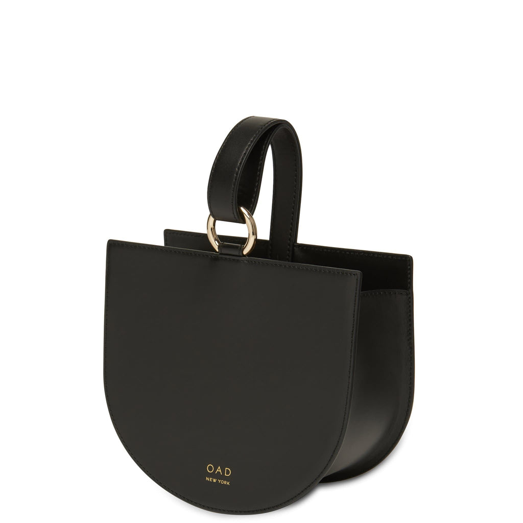 Calf Dome Wristlet - True Black - OAD NEW YORK
