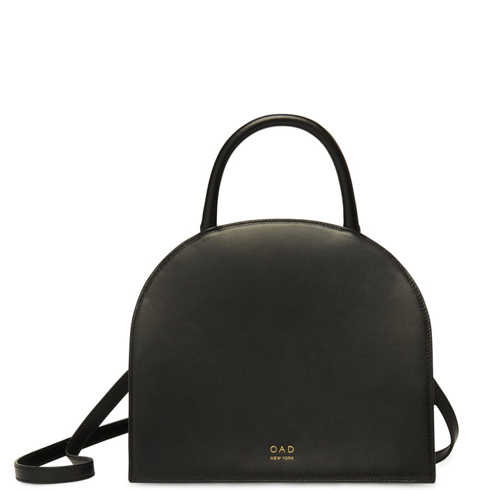 Calf Dome Satchel - True Black - OAD NEW YORK