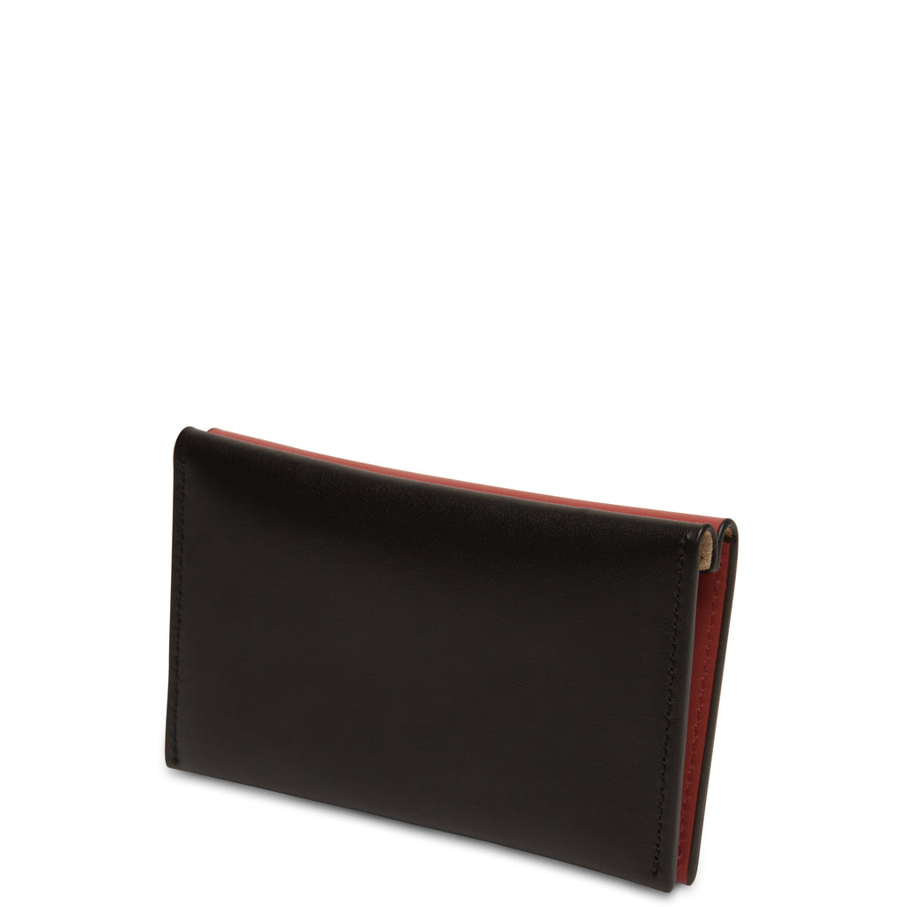 Calf Carryall Card Case - True Black + Rosewood - OAD NEW YORK