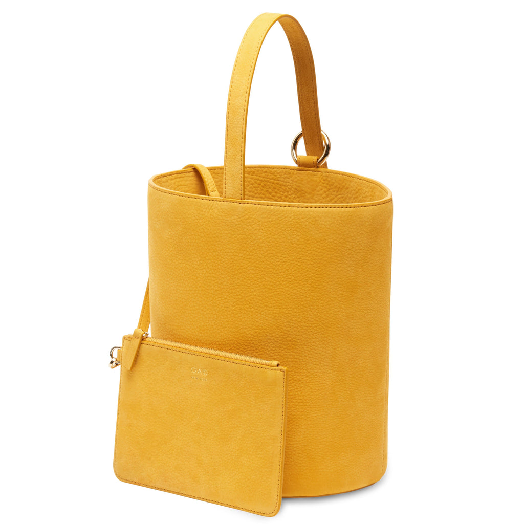 Nubuck Dome Bucket Bag - Honey
