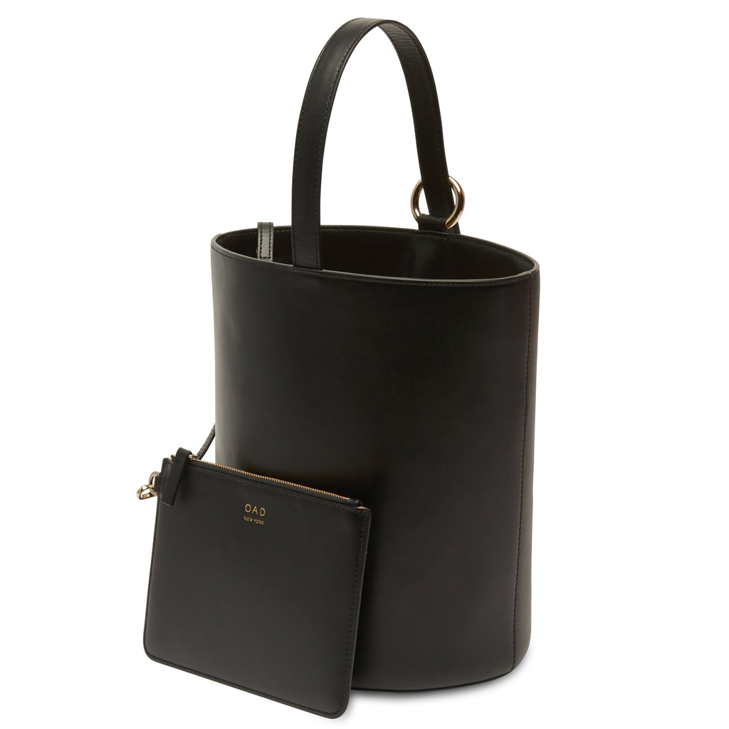 Calf Dome Bucket Bag - True Black - OAD NEW YORK