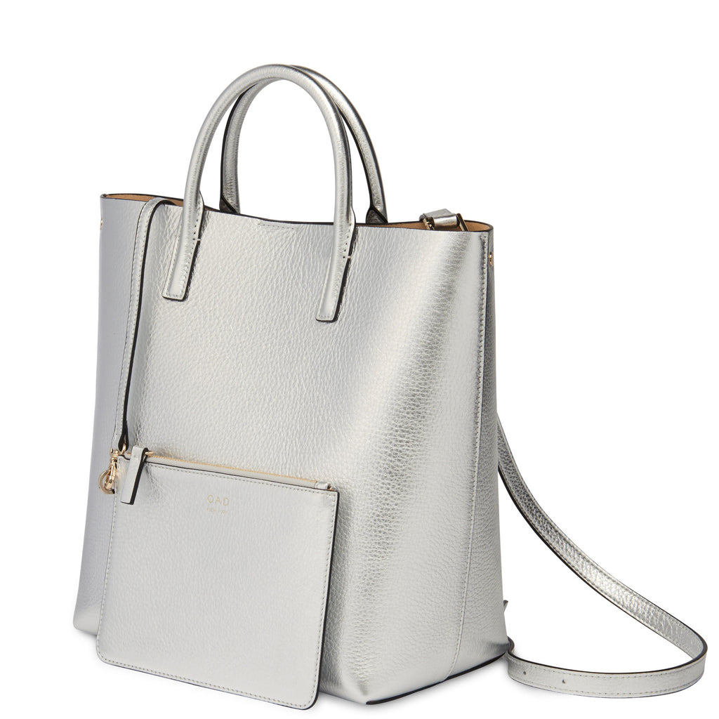 Tall Carryall Tote - Silver