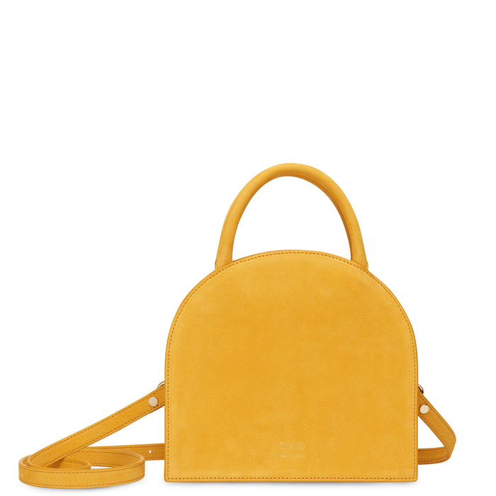 Nubuck Dome Mini Satchel - Honey