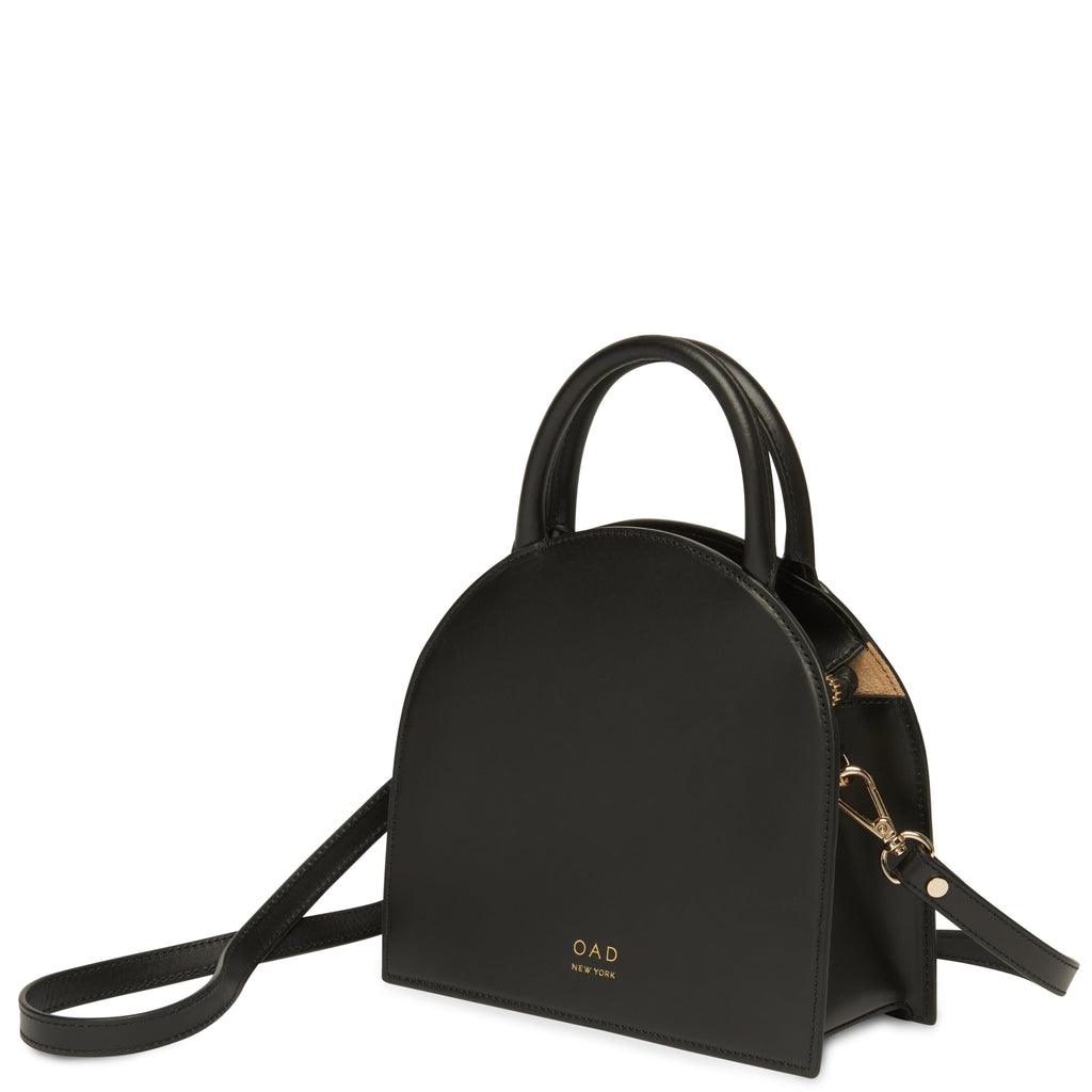 Calf Dome Mini Satchel - True Black - OAD NEW YORK