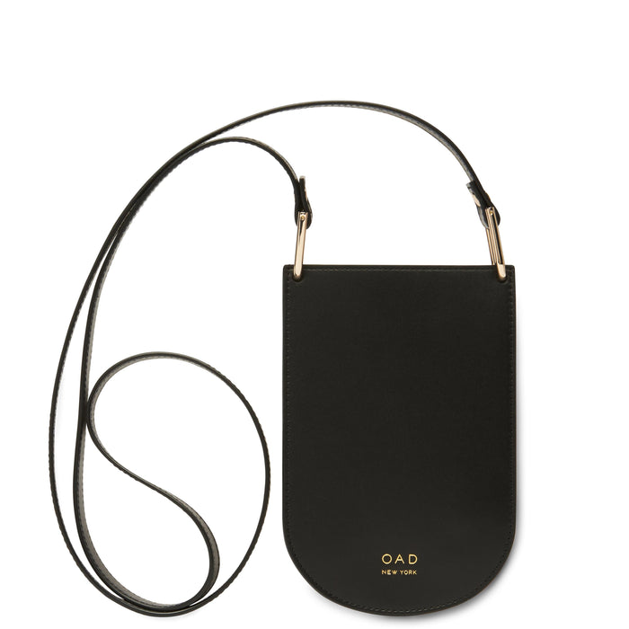 Calf Dome Mini Pouch Crossbody - True Black - OAD NEW YORK