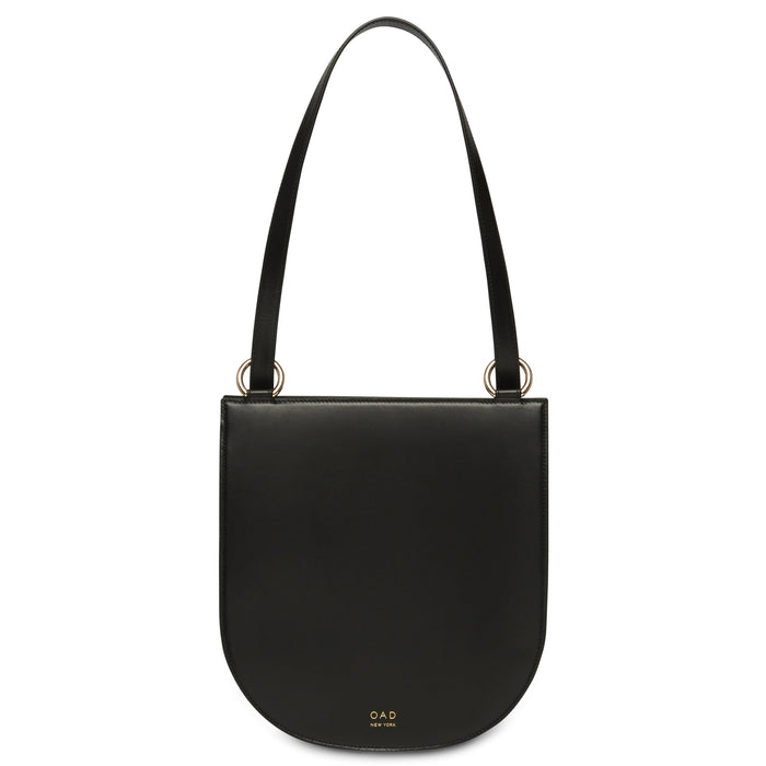 Calf Dome Hobo - True Black - OAD NEW YORK