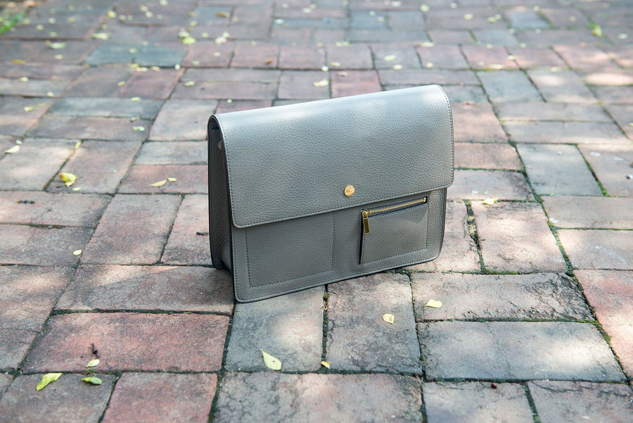 Messenger Courier - Pebble Grey - OAD NEW YORK