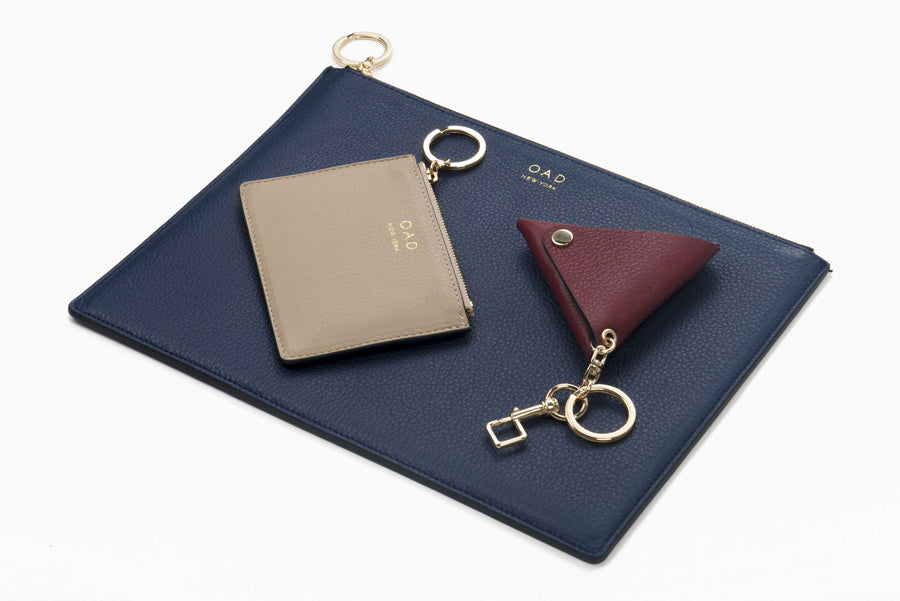 Triangle Key Ring - Dark Wine - OAD NEW YORK - 1