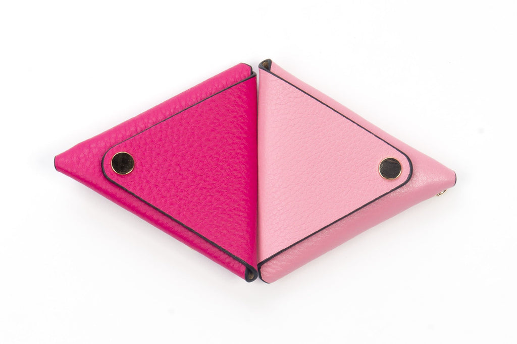 Triangle Key Ring - Fuchsia